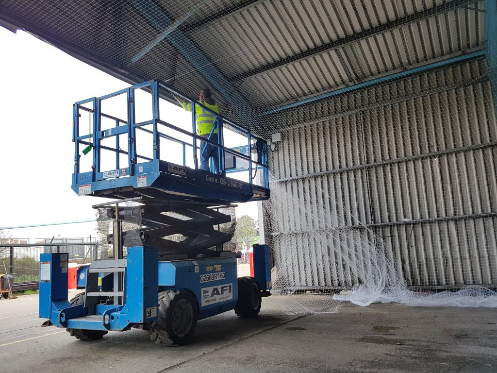 Pigeon Proofing Vehicle Sheds For Bedford Borough Council